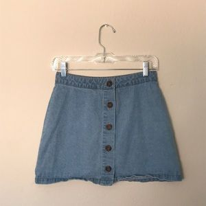 Forever 21 Button-Up Denim Skirt